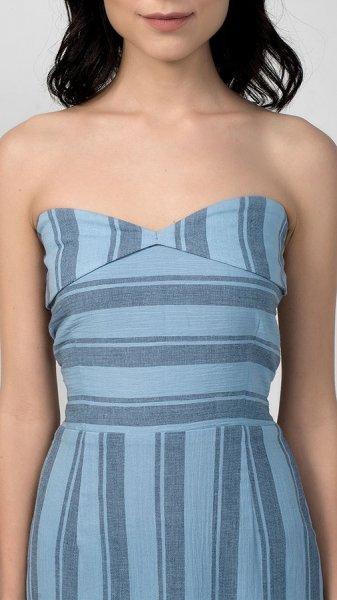 Pastel Blue Yarn Dyed Tube Dress