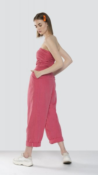 Rosy Pleated Co-ord