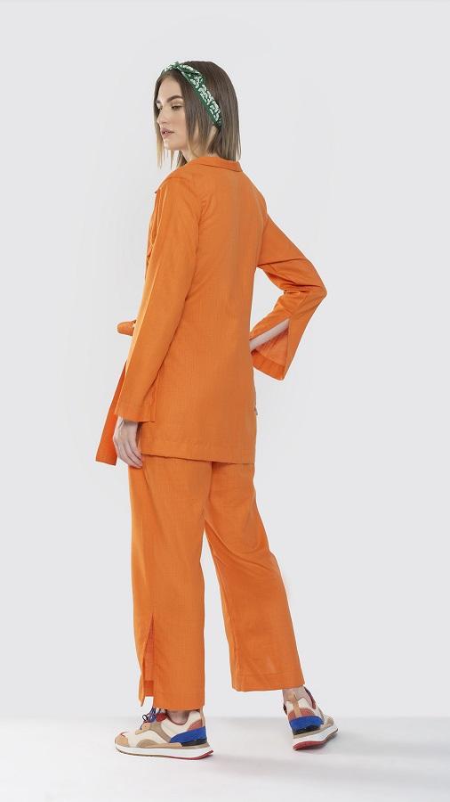 Solar Orange Pant suit