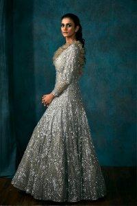 Metallic Grey Gown
