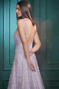 Mauve Sequins Gown