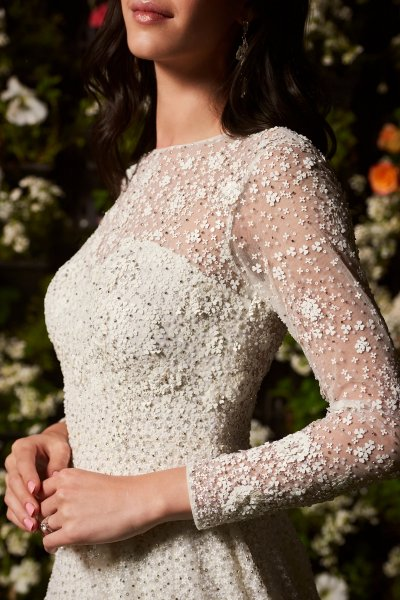 Ivory Sequins Gown