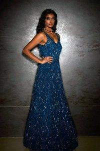 Midnight Blue Sequins Gown