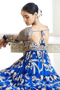 Royal Blue Anarkali Set