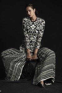 Black And White Sequins Garara Set