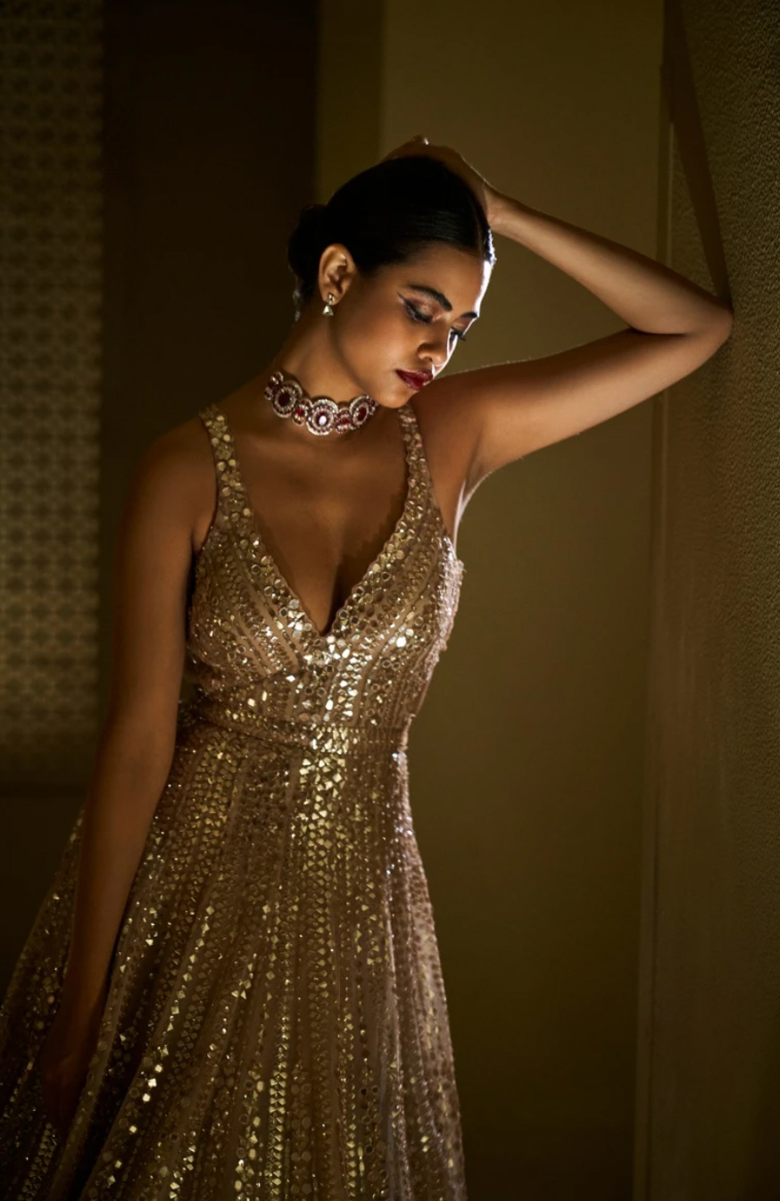 Light Gold Gown