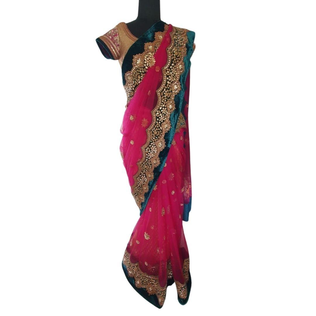 Pink Saree Medium