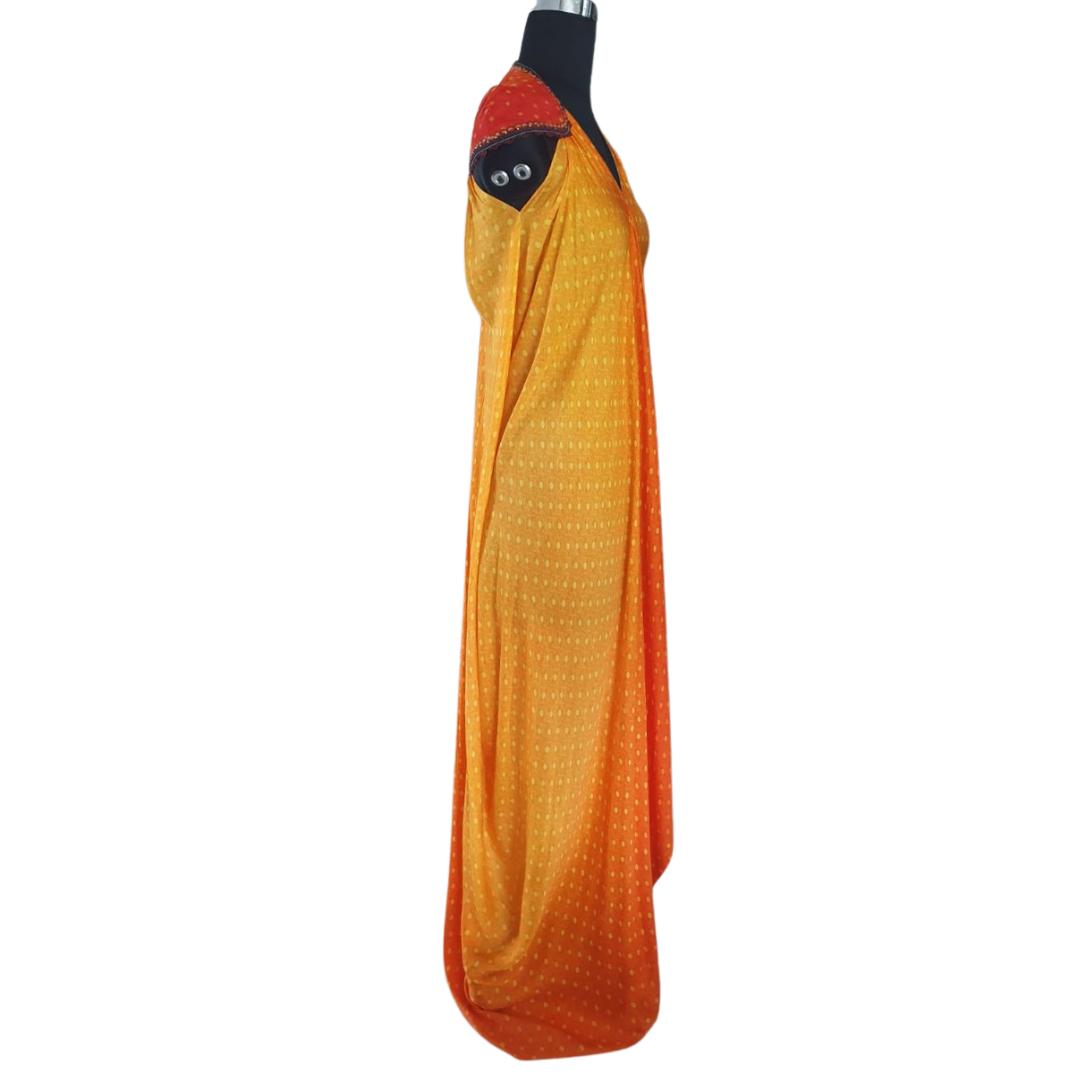 Yellow Orange Gown Medium