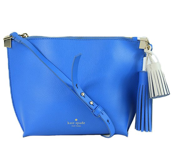 Alice Blue & Cement Foster Court Pepper Leather Crossbody Bag