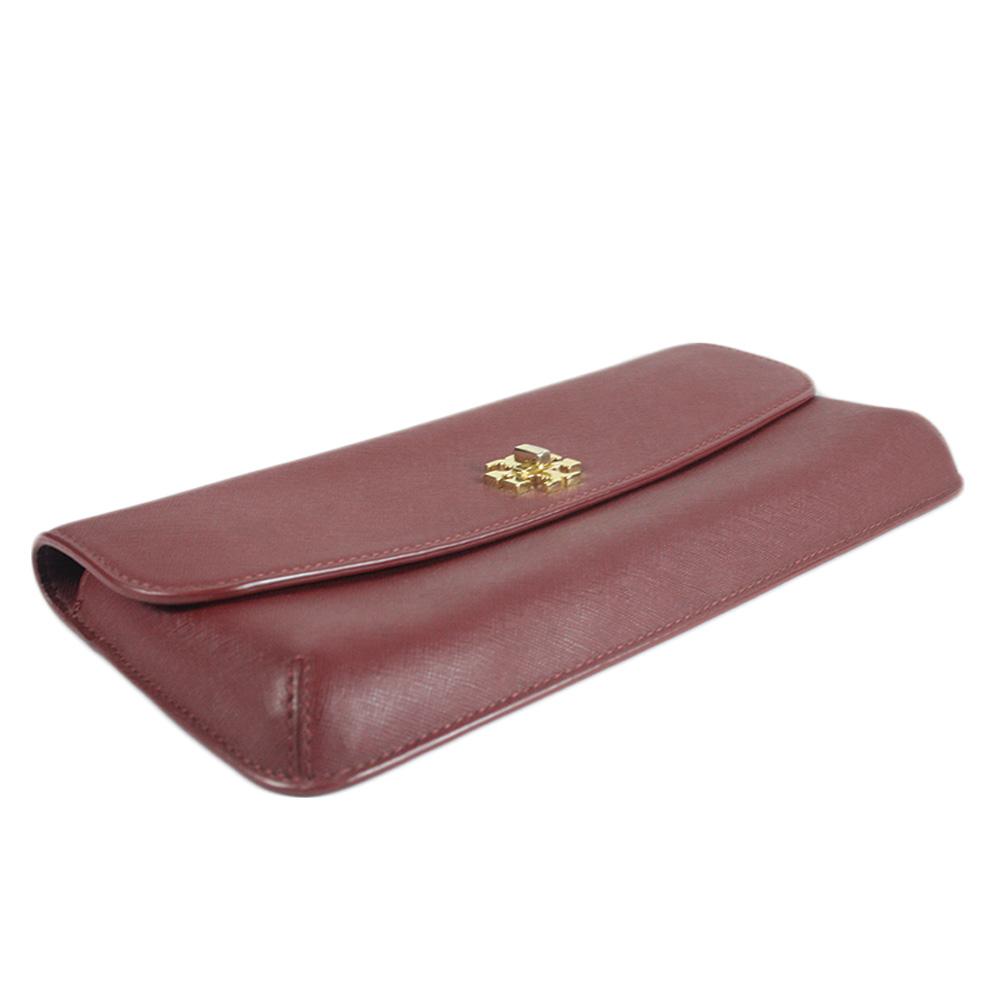 Diana Slim Black Saffiano Leather Clutch