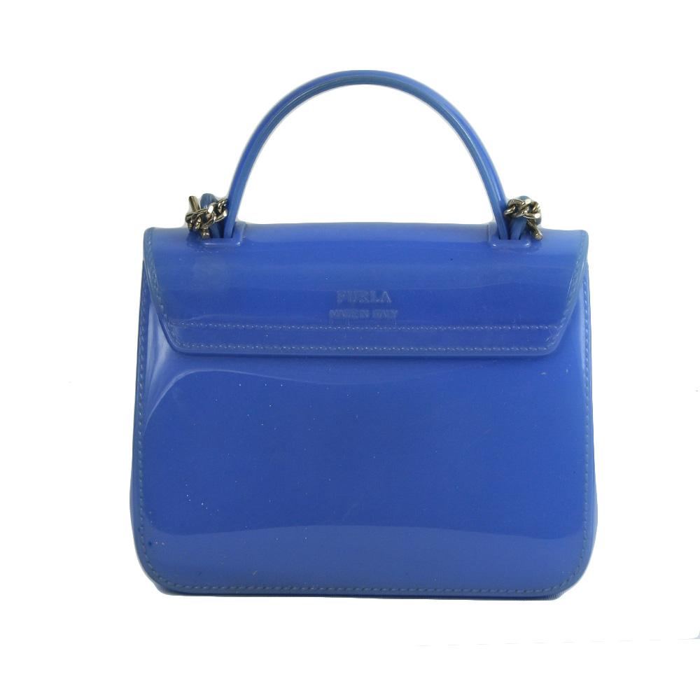 Candy Meringa Mini Crossbody Bag In Blue Pvc