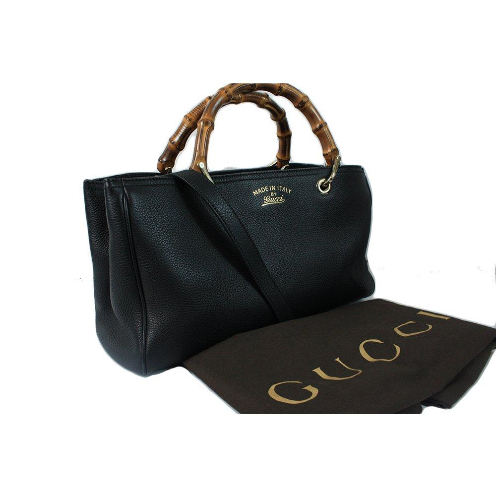 Black GG Bamboo Handbag