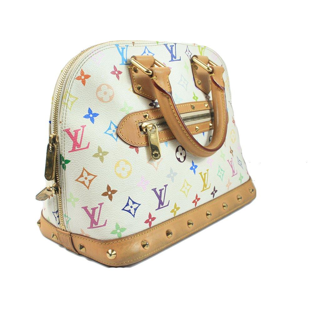 Louis Vuitton White Monogram Multicolore Trouville Bag