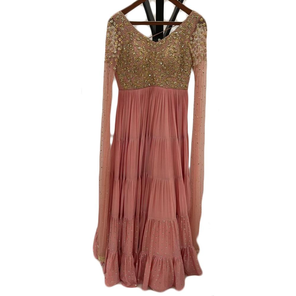 Dusky rose layered dress