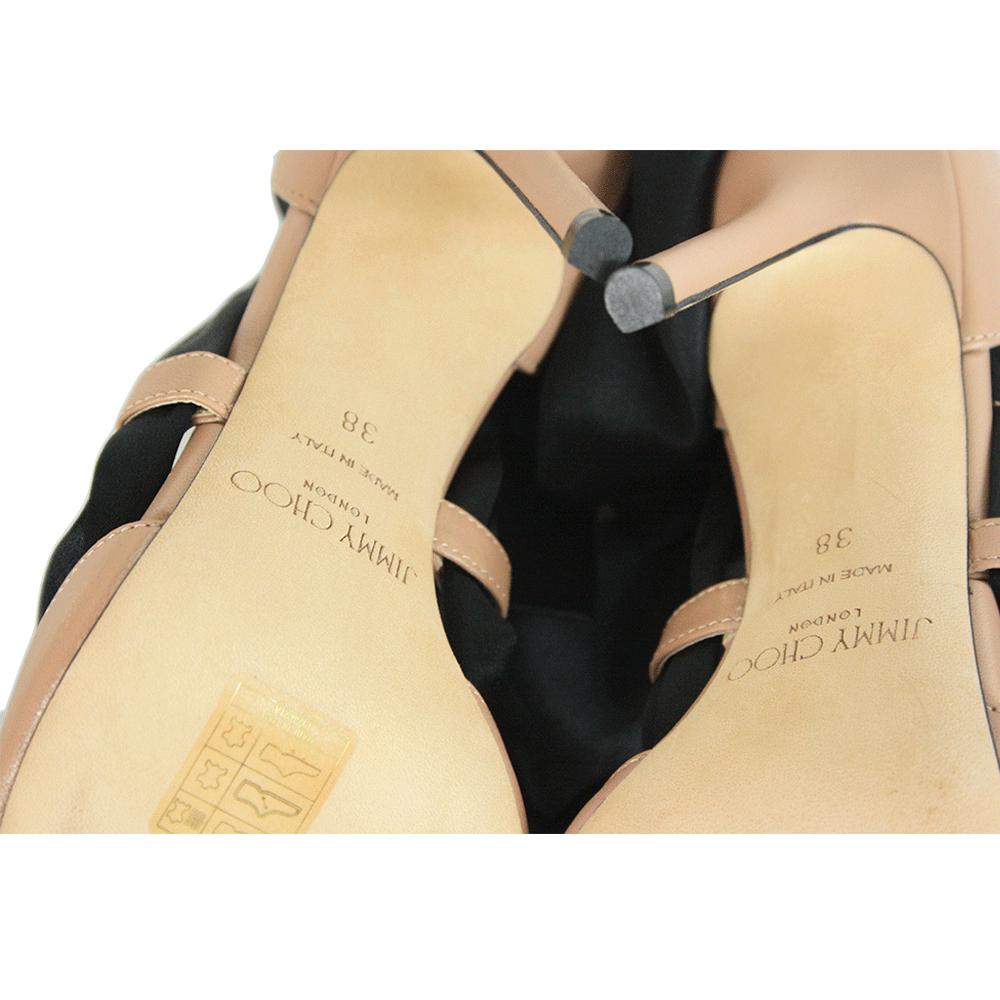 Louren 100 with Black Satin Ribbon Pumps - Size 38