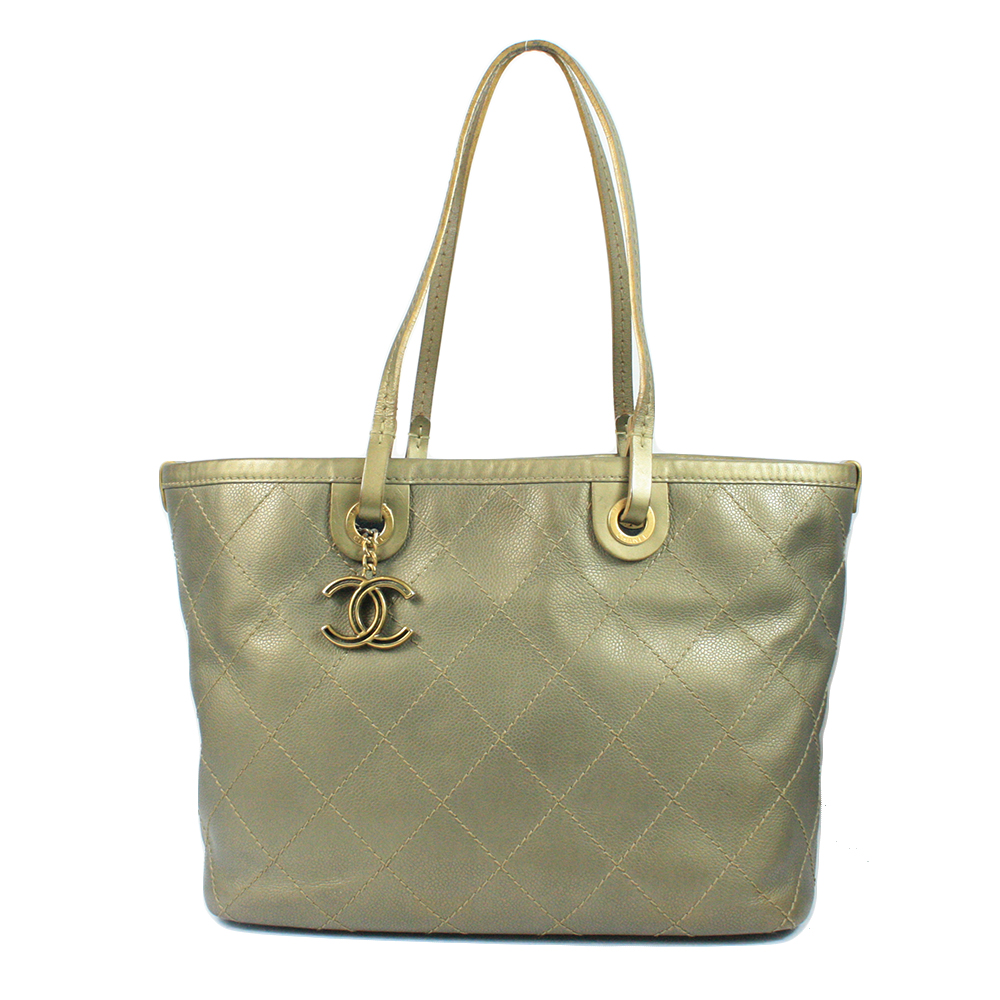Quilted Leather Tote Bag