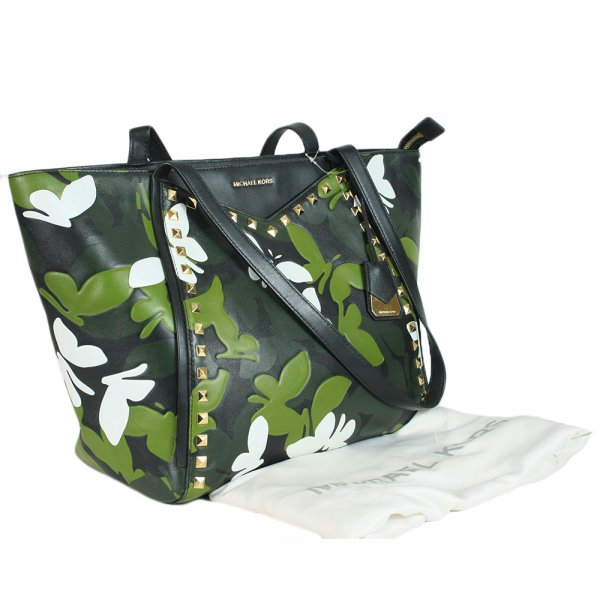 Whitney Camo Butterfly Tote