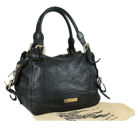 Black Pebbled Leather Bag