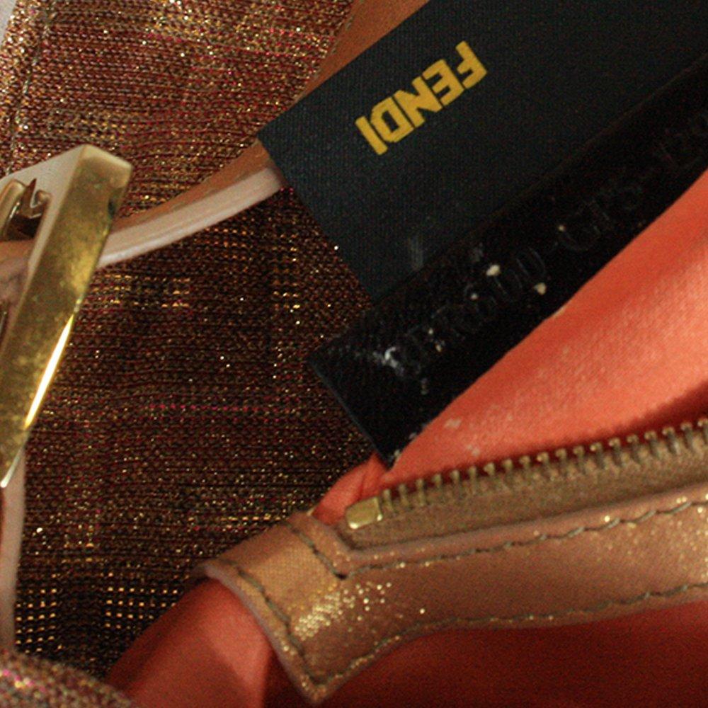 Metallic Lurex Zucca Baguette Gold Pink