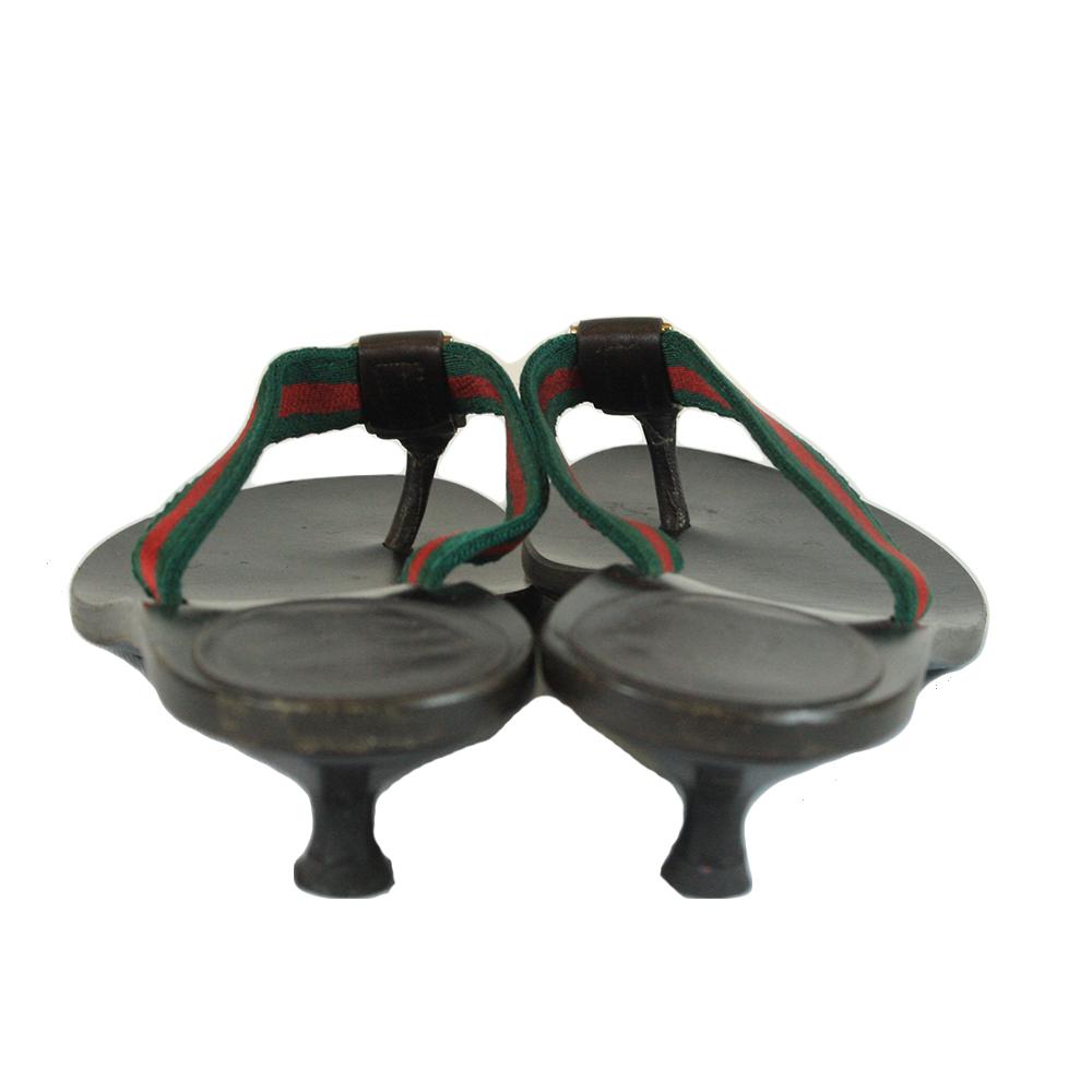 Gucci Web Detail GG Thong Sandals Size - 37.5C