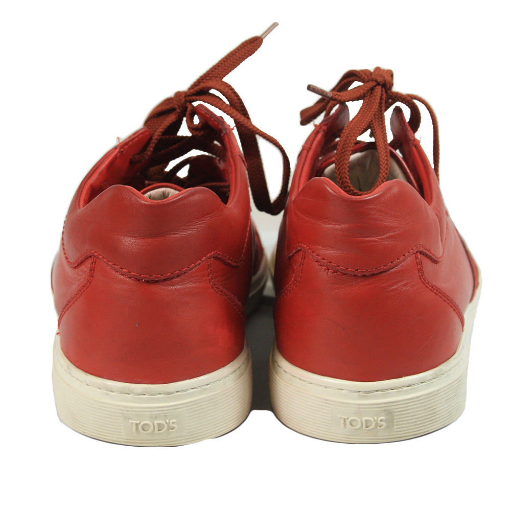 Red Shoes Leather Size - 8