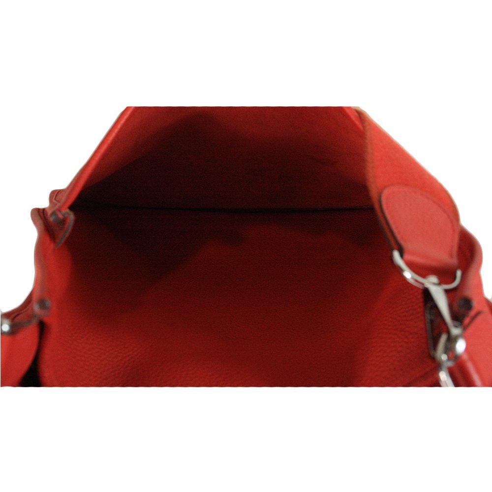 ROUGE CASAQUE CLEMENCY LEATHER EVELYNE BAG