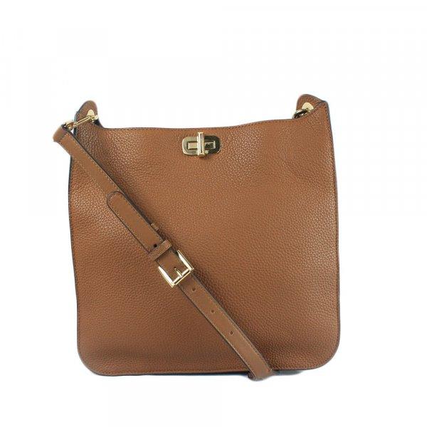Hamilton Medium Leather Messenger Bag in Acorn