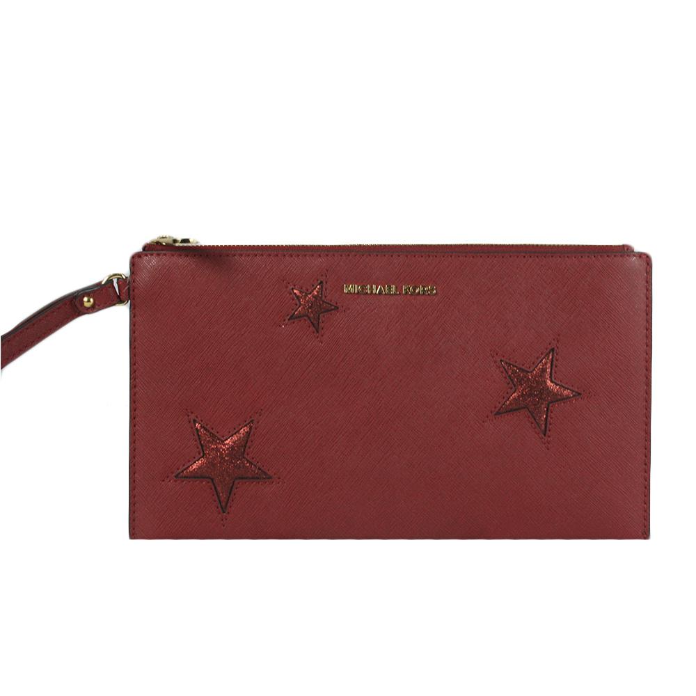 Price Firm Red Star Glitter Wristlet
