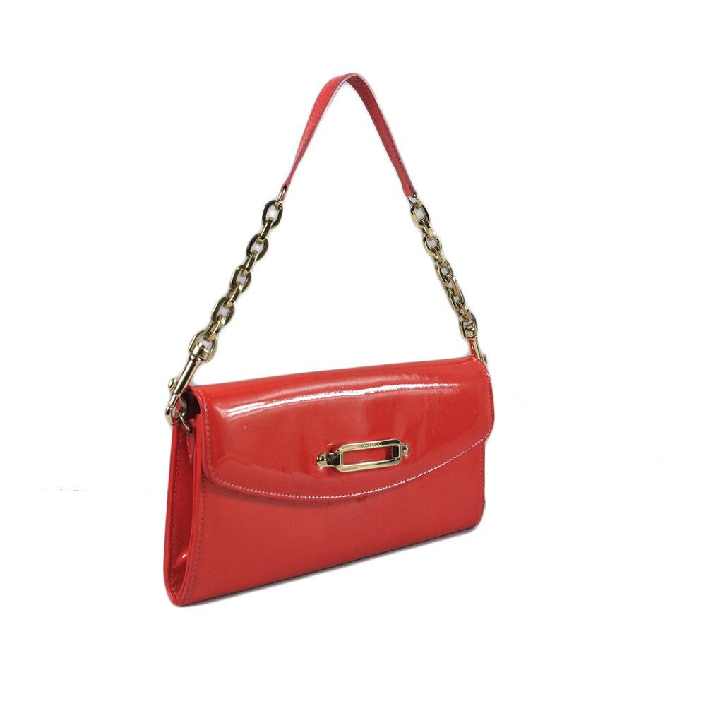 Opat Red Patent Leather Bria Clutch Crossbody Bag