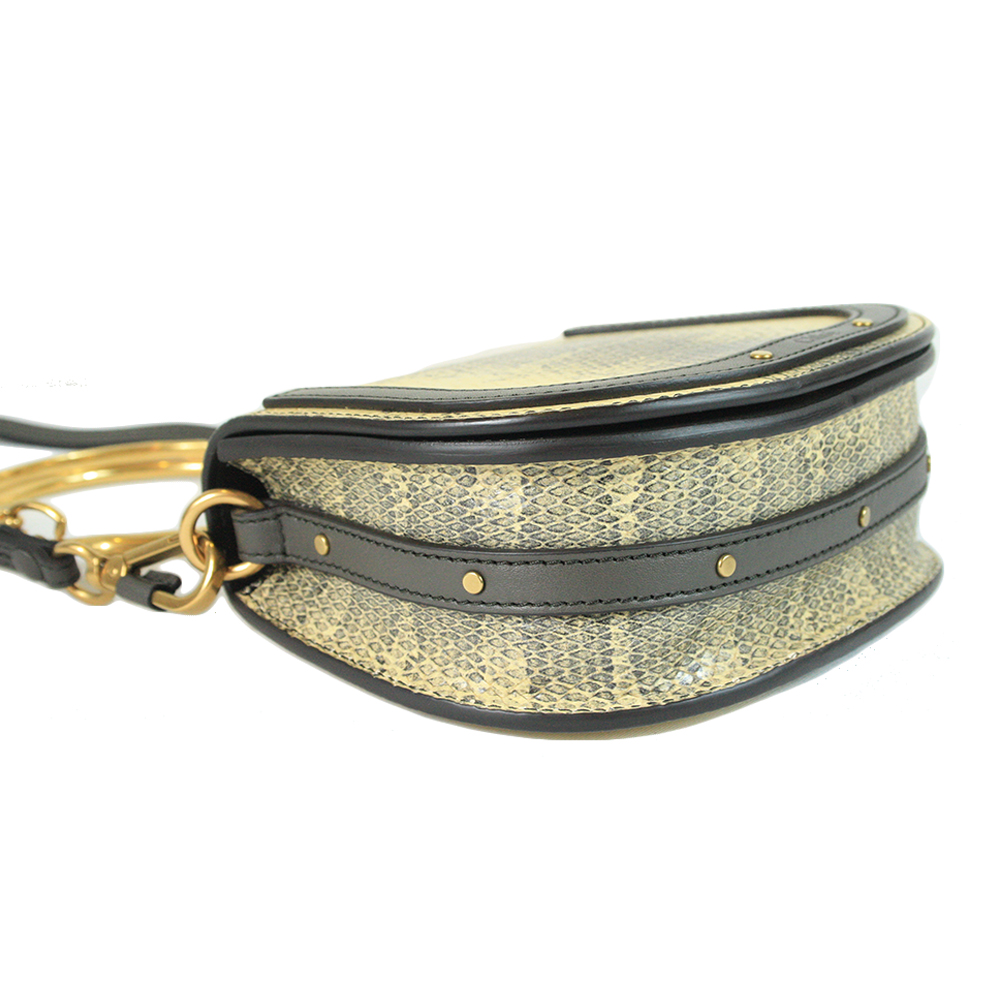 Small Nile wristlet in smooth & suede calfskin