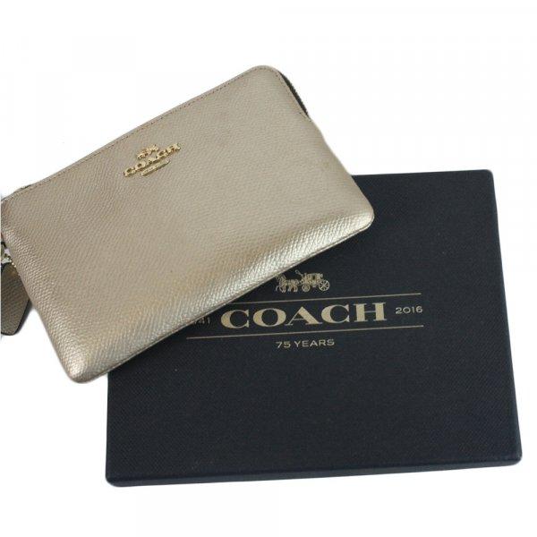 Silver Coach Wristlet