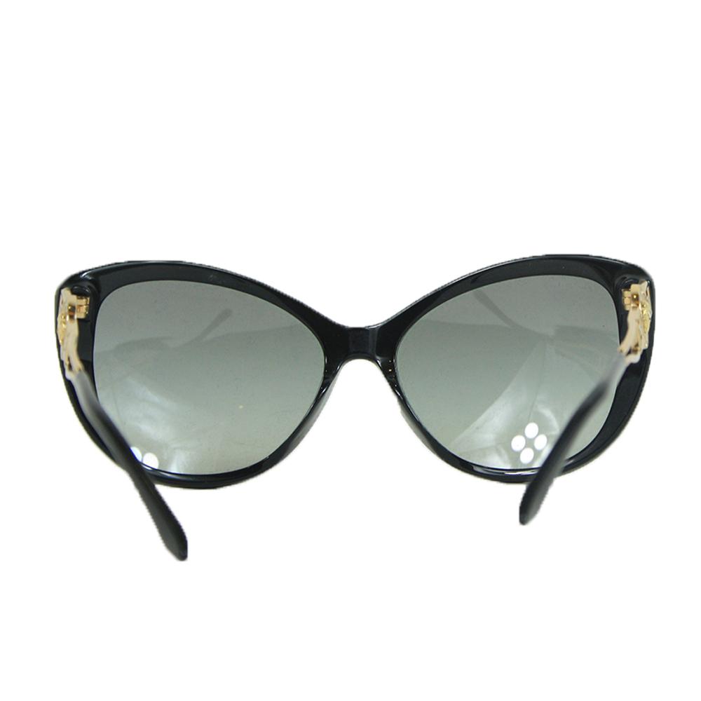 Black/Gold Cat Eye Frame w/ Grey Lens  Gold Medusa