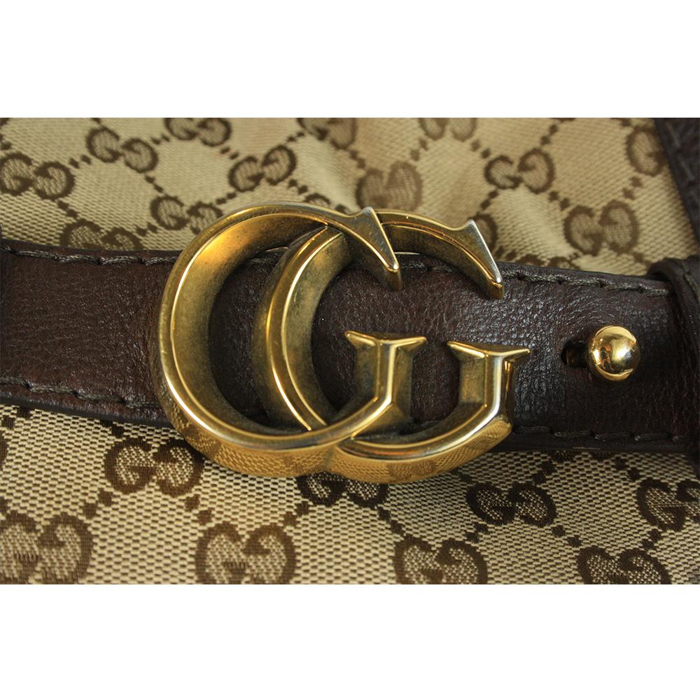 Monogram GG Running Hobo Dark Brown