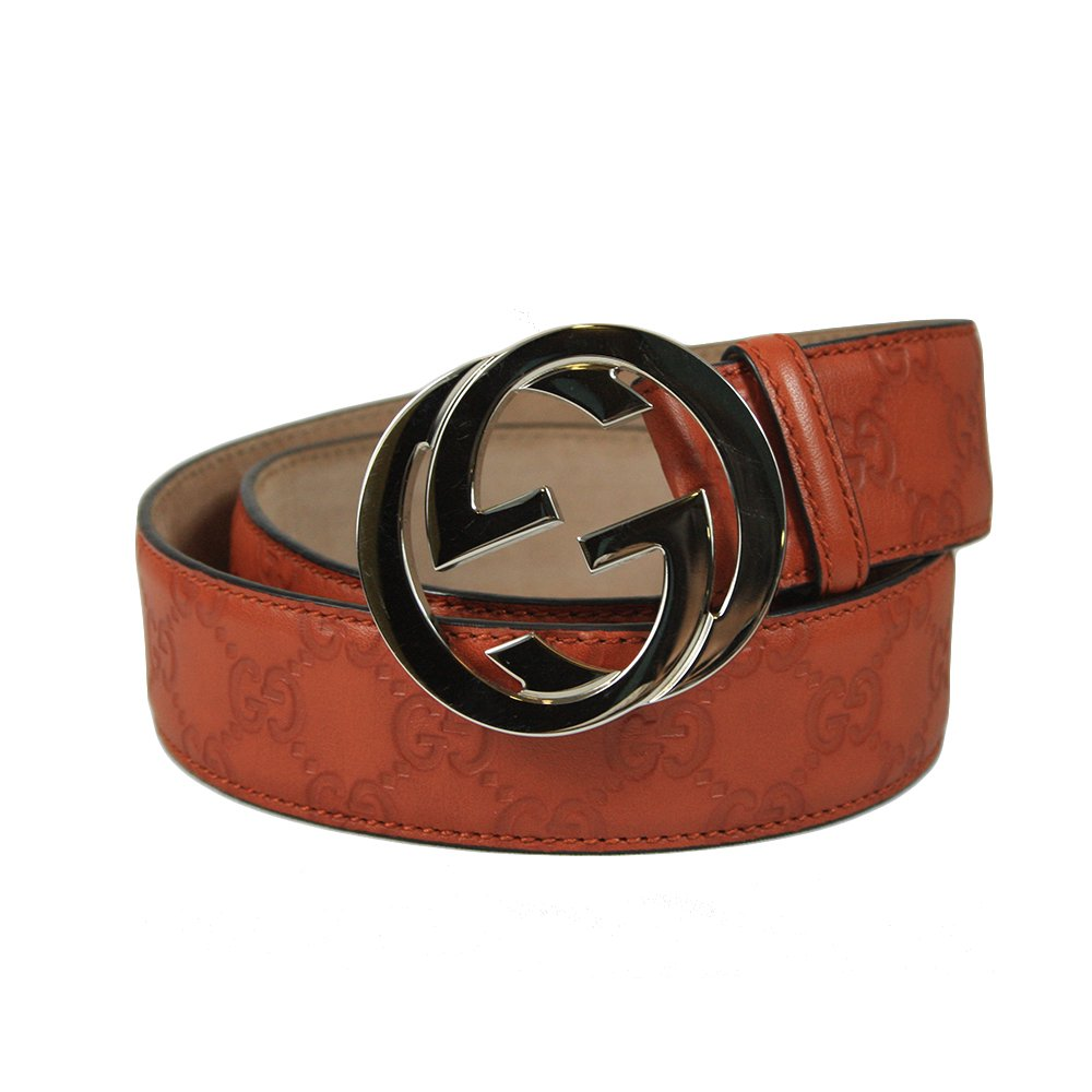 Orange Embossed Brand Buckle Belt- 85.34