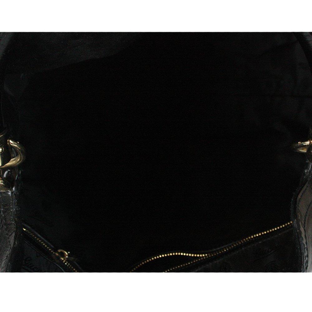 Black Monogram Leather Large Indy Tassel Hobo