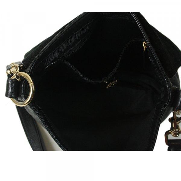 Daria Satchel Bag Black Leather