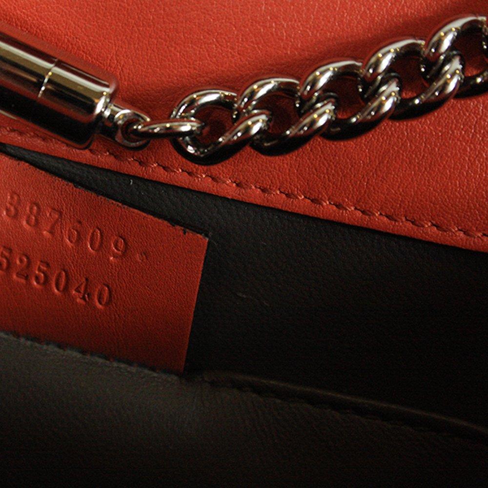 Women Leather Orange Crossbody Bag