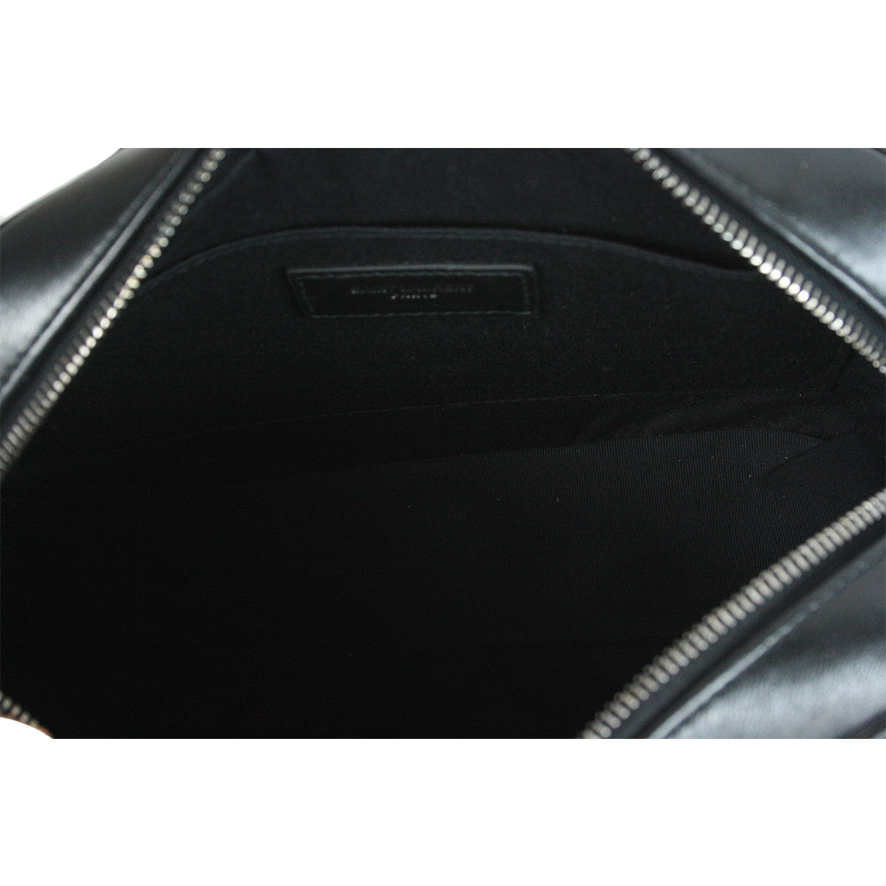 Calfskin Matelasse Monogram Lou Camera Bag Black