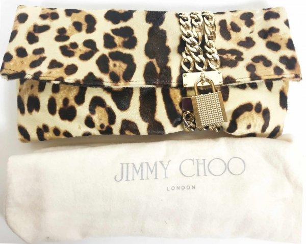 Chandra Leopard-Print Charm Clutch Bag