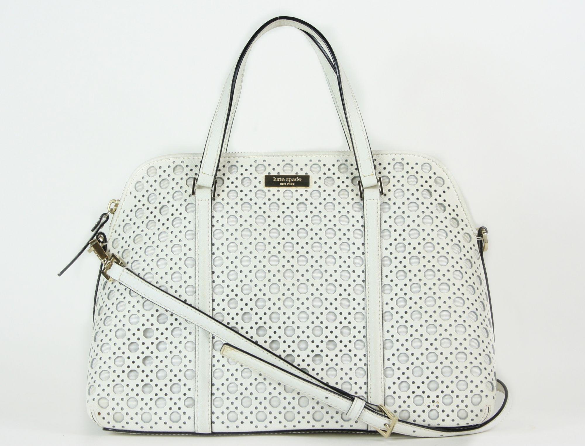 White Top Handle Bag
