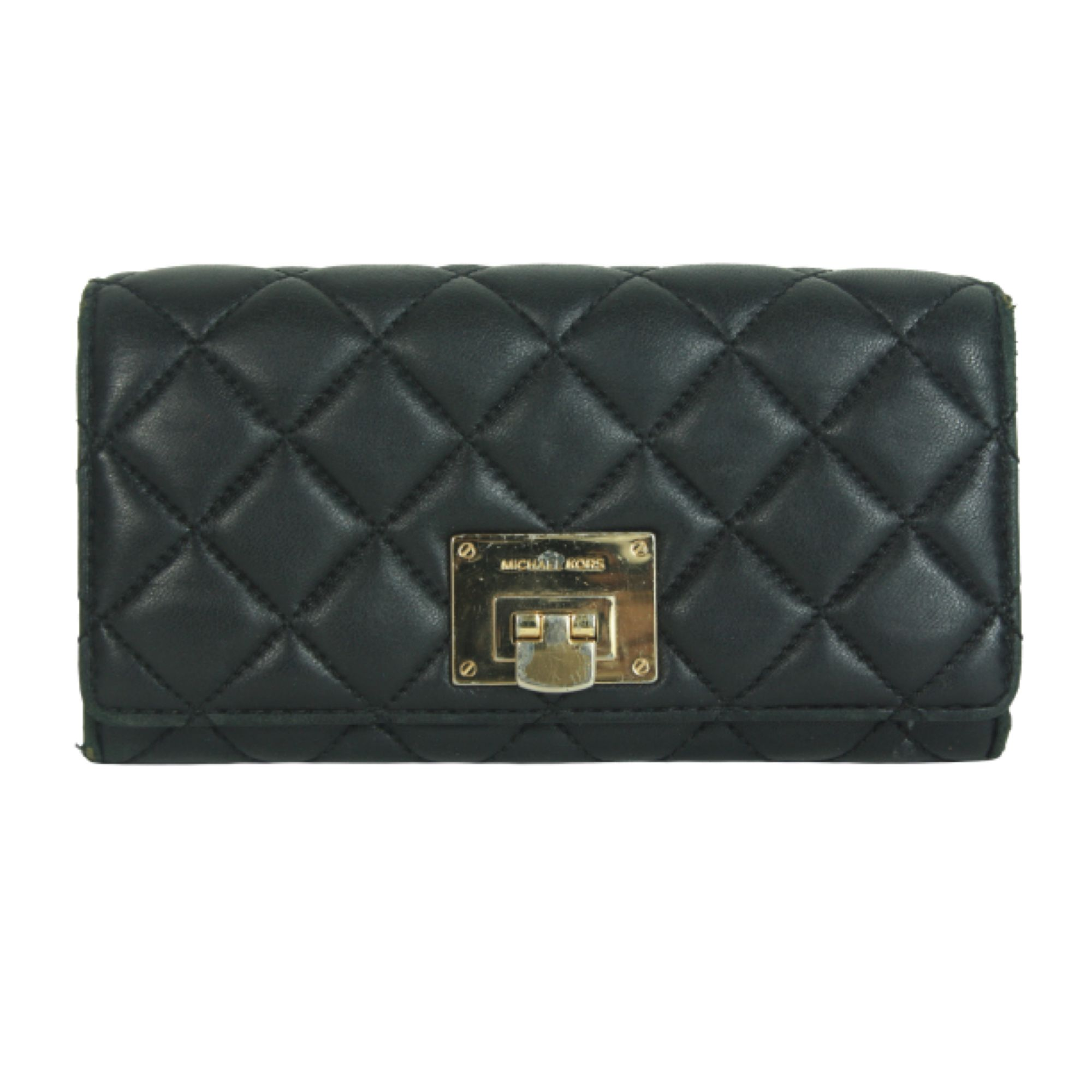 Black Astrid carryall leather wallet