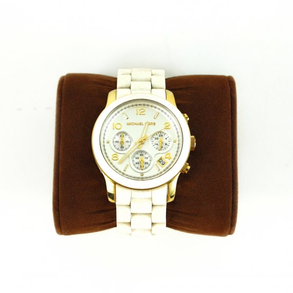 Chronograph White Silicone Coated Stainless Watch