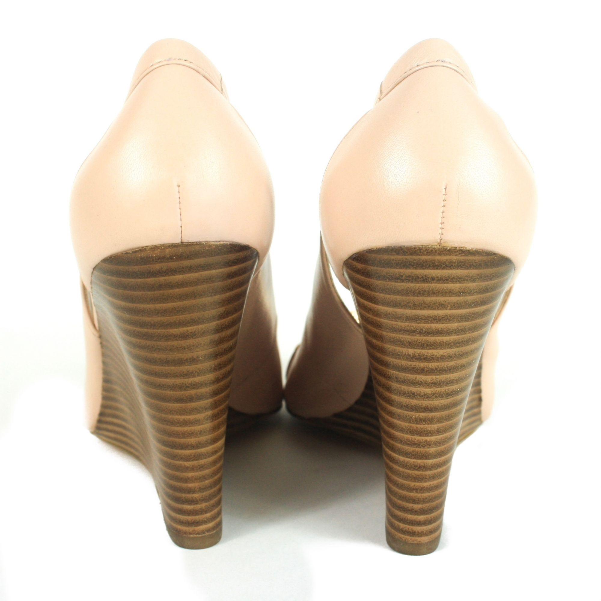 Precious Pump Peep Toe Wedges. Size: 9
