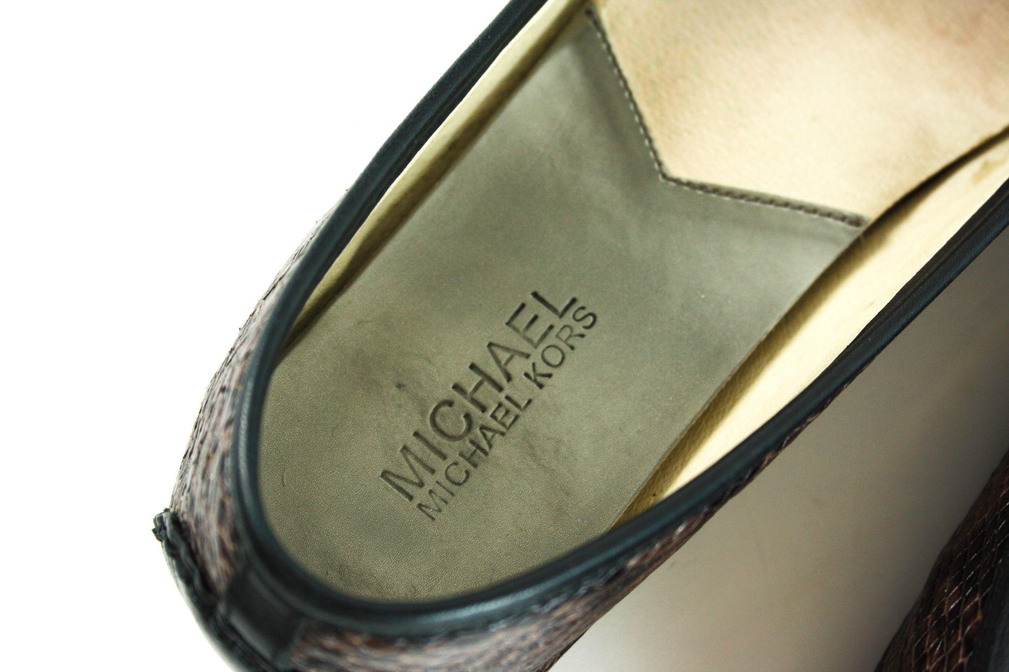 Snakeskin Ballerina Flats (Size- 8M)