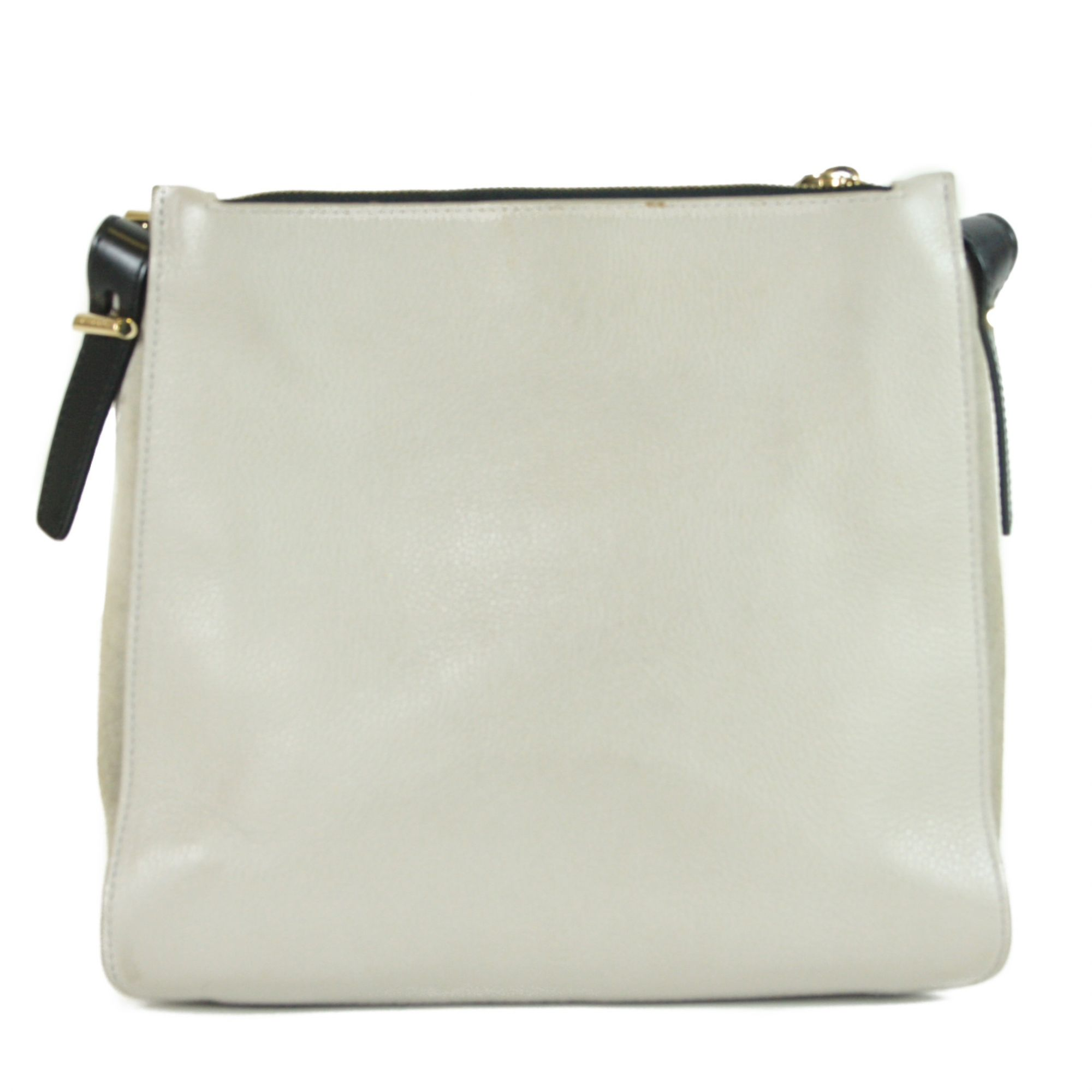 Leather Buckle Flap Crossbody Bag