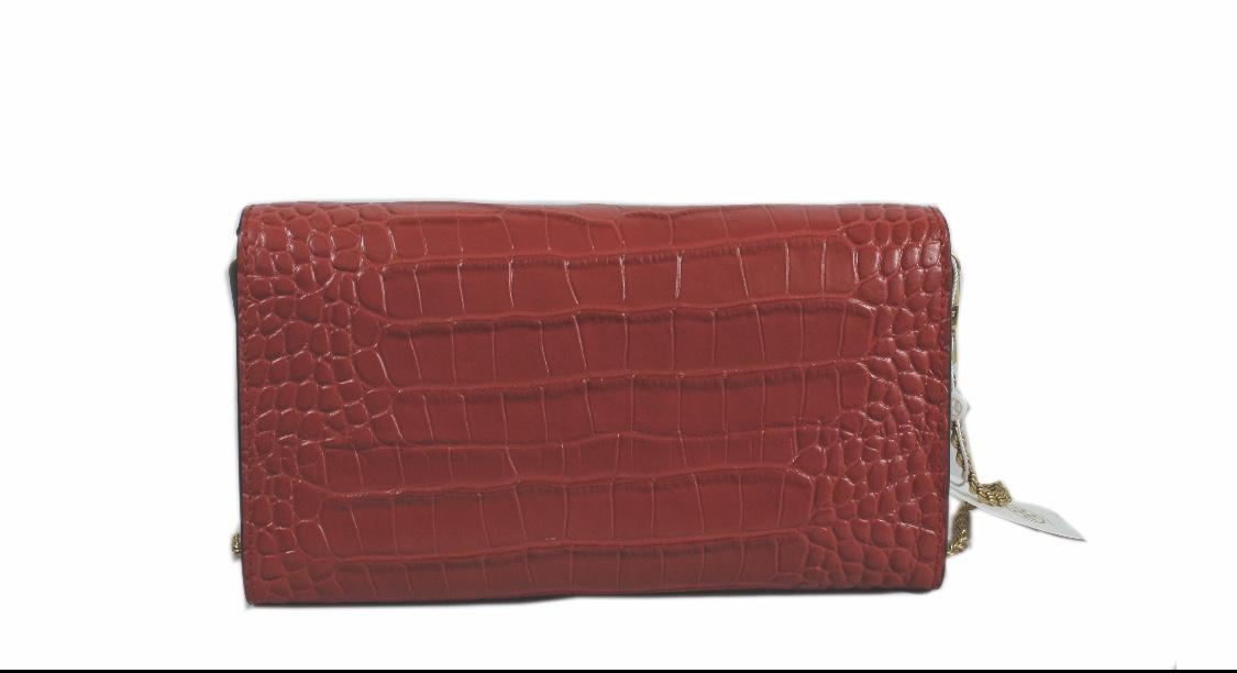 Eleanor crocodile-effect leather bag