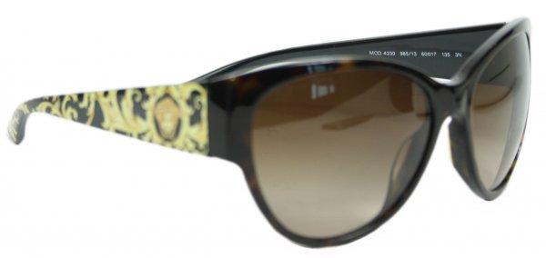 Baroque Medusa Print Sunglasses