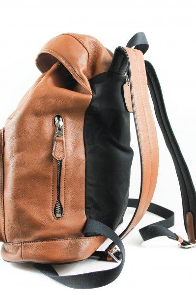 Men's Rucksack Smooth Brown Saddle Leather Backpack