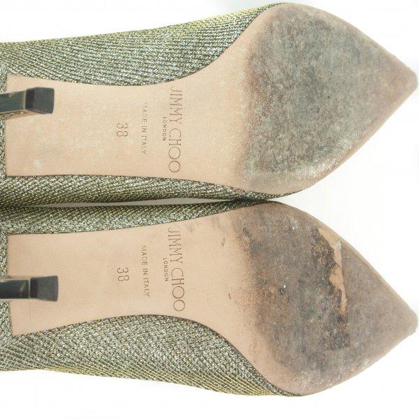 Pointed Toe Golden Heels