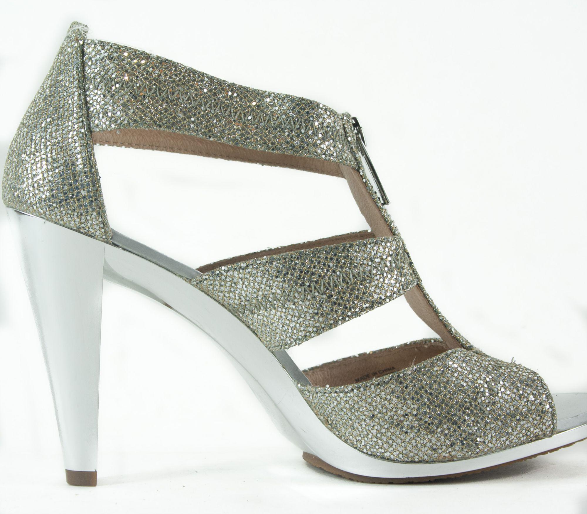 High Heel Zipper Sandals